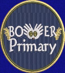 BOWER  PRIMARY SCHOOL NAVY BOOK BAG WITH STRAP  AND WITH LOGO